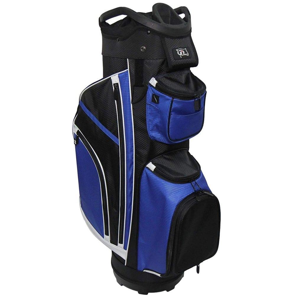 """RJ Sports RJ19 9.5"""" Deluxe Cart Bag Blue/Black"""