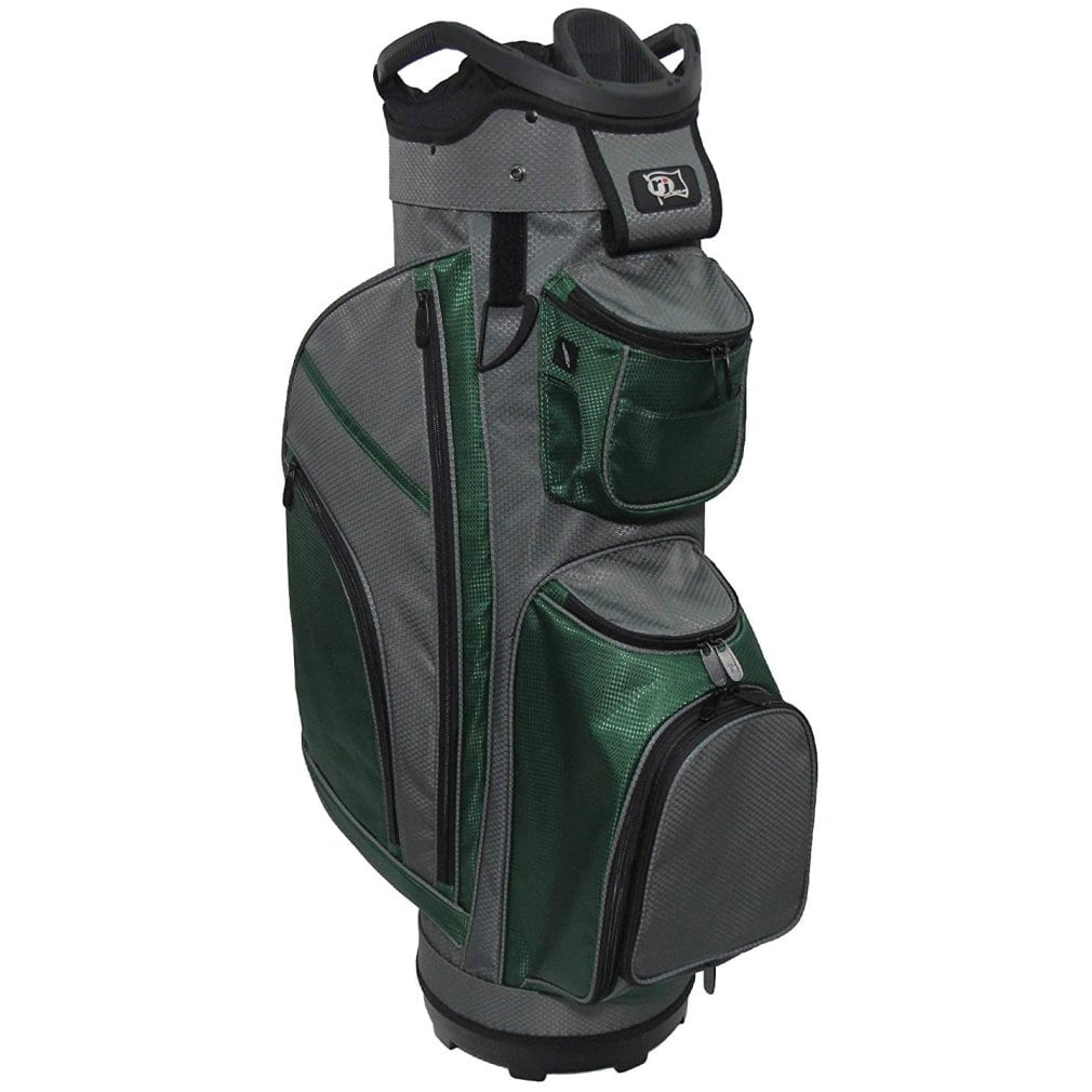 """RJ Sports RJ19 9.5"""" Deluxe Cart Bag Charcoal/Hunter"""