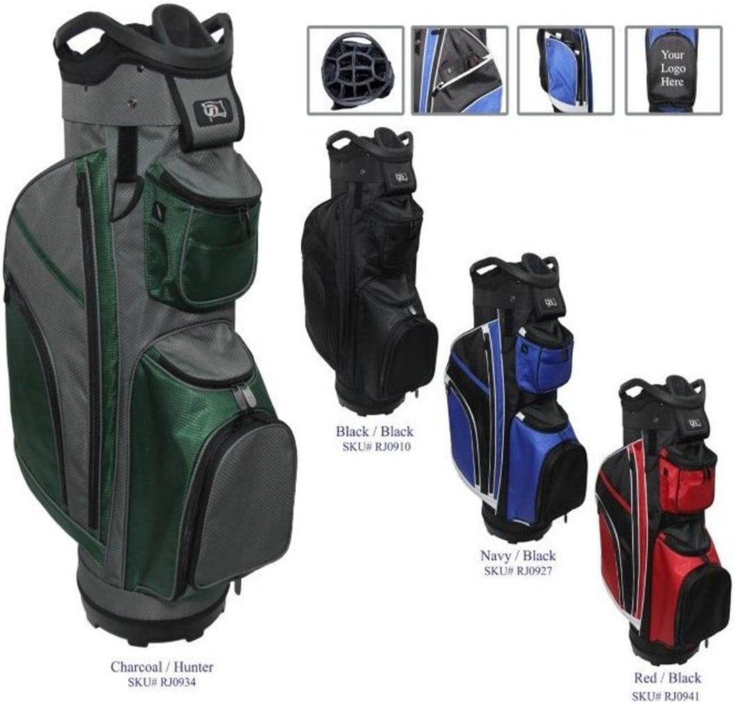 "RJ Sports RJ19 9.5"" Deluxe Cart Bag Red/Black"