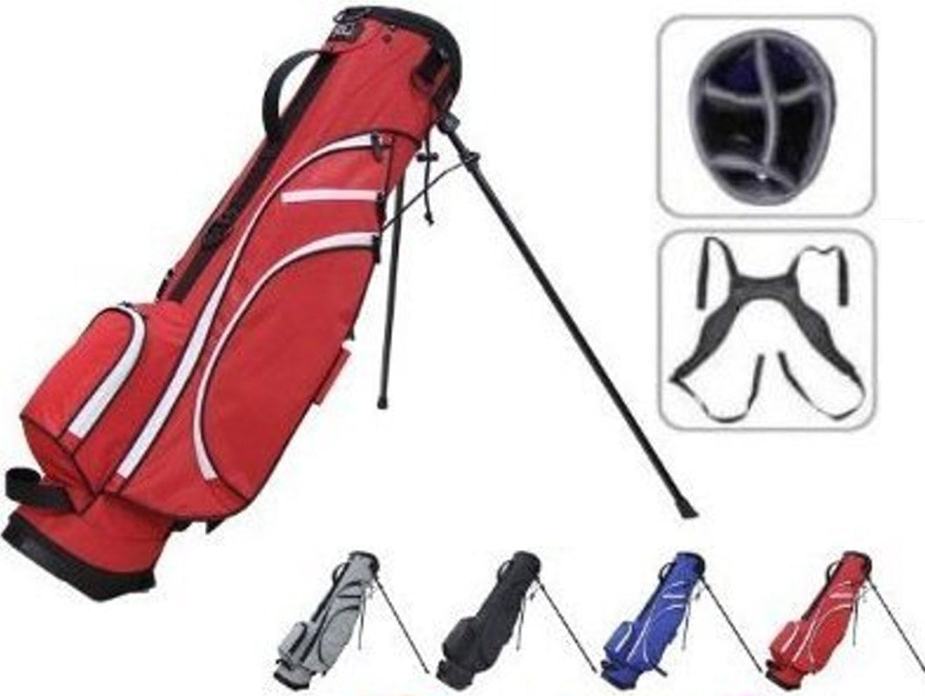 "RJ Sports Typhoon-II 6"" Stand Bag - Navy/White"