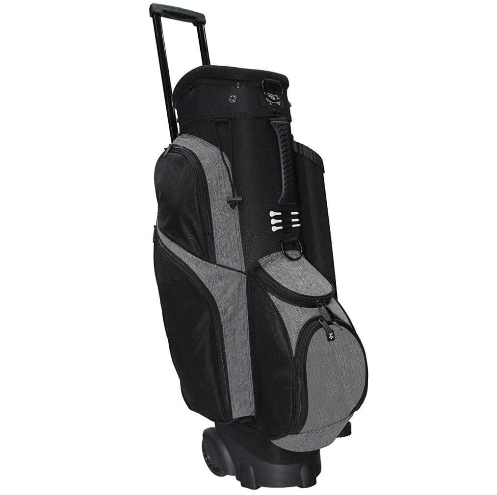 RJ Sports Spinner X 14 Way Transport Cart Bag - Black/Heather Grey