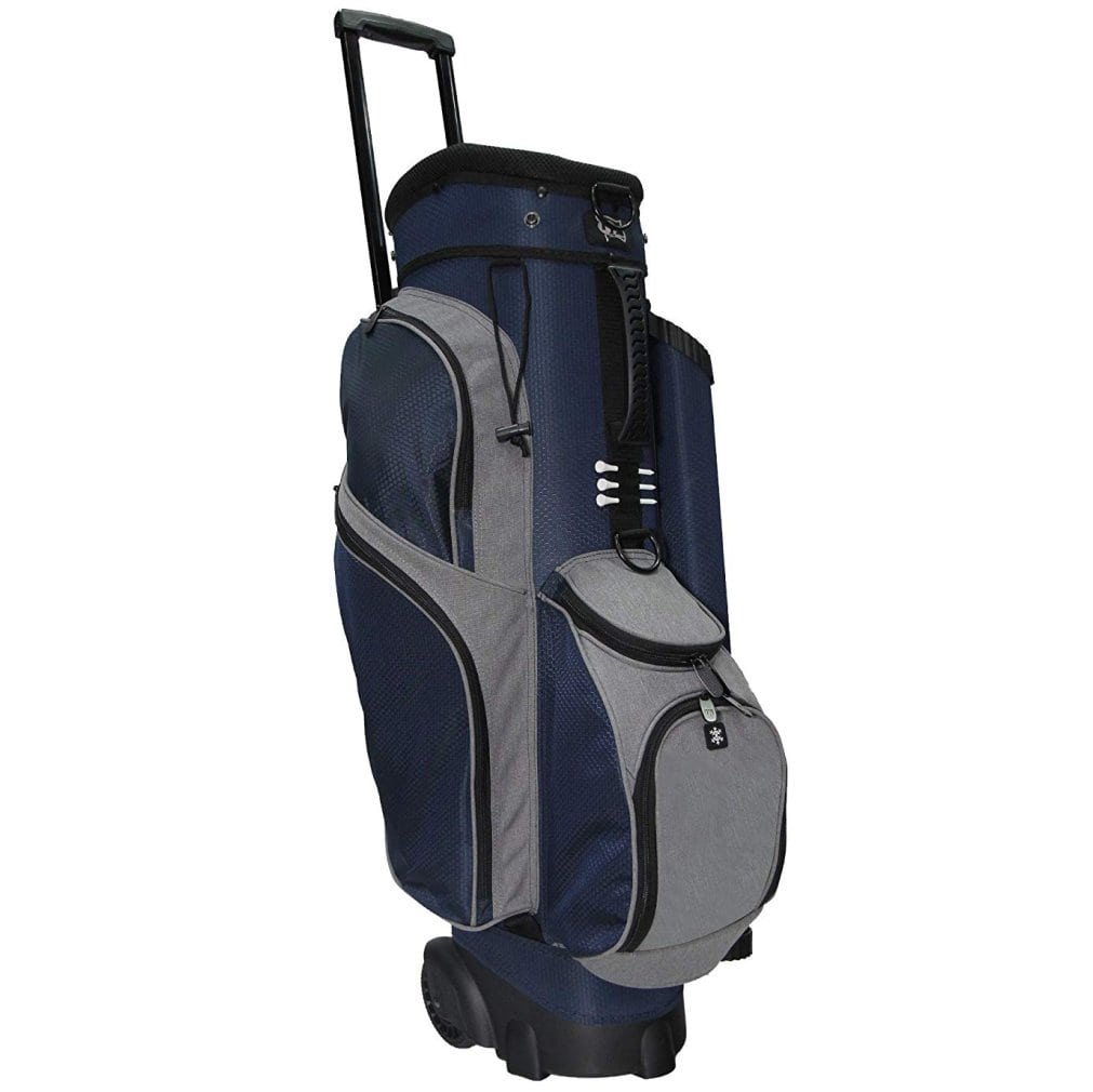 RJ Sports Spinner X 14 Way Transport Cart Bag - Navy/Heather Grey
