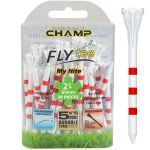 "Champ My Hite FLYTee - 2.75"" White / Striped Red Golf Tees 30 pack"