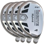 Built iDrive White Hybrid 4-Club Graphite Set