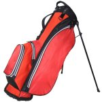 "RJ Sports Playoff 9.5"" Deluxe Stand Bag Red/Black"